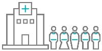 Healthcare institution icon