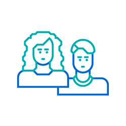 Two people icon