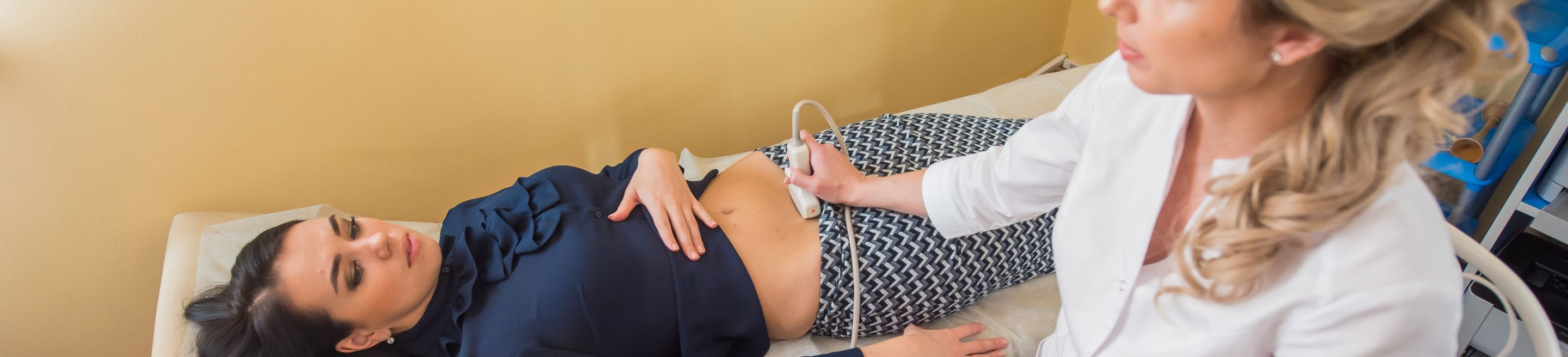 Pregnant woman getting a scan