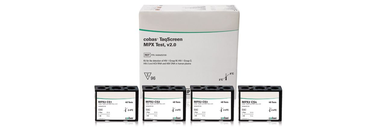 cobas® TaqScreen MPX test, v2.0 rapid testing kit for HIV, HCV and HBV