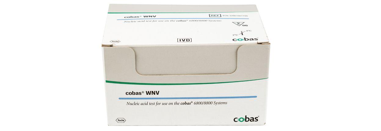 Obrázek testu cobas® WNV pro detekci západonilského viru vdárcovské krvi