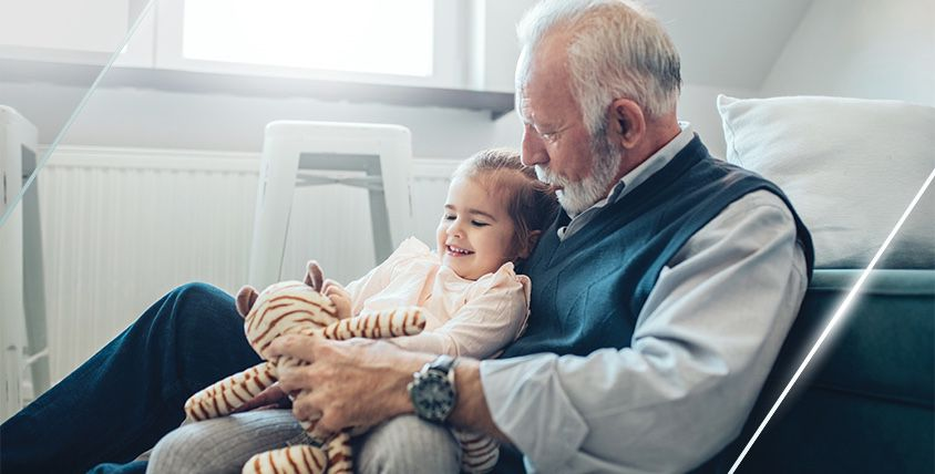Patient Safety - Elderly man with girl
