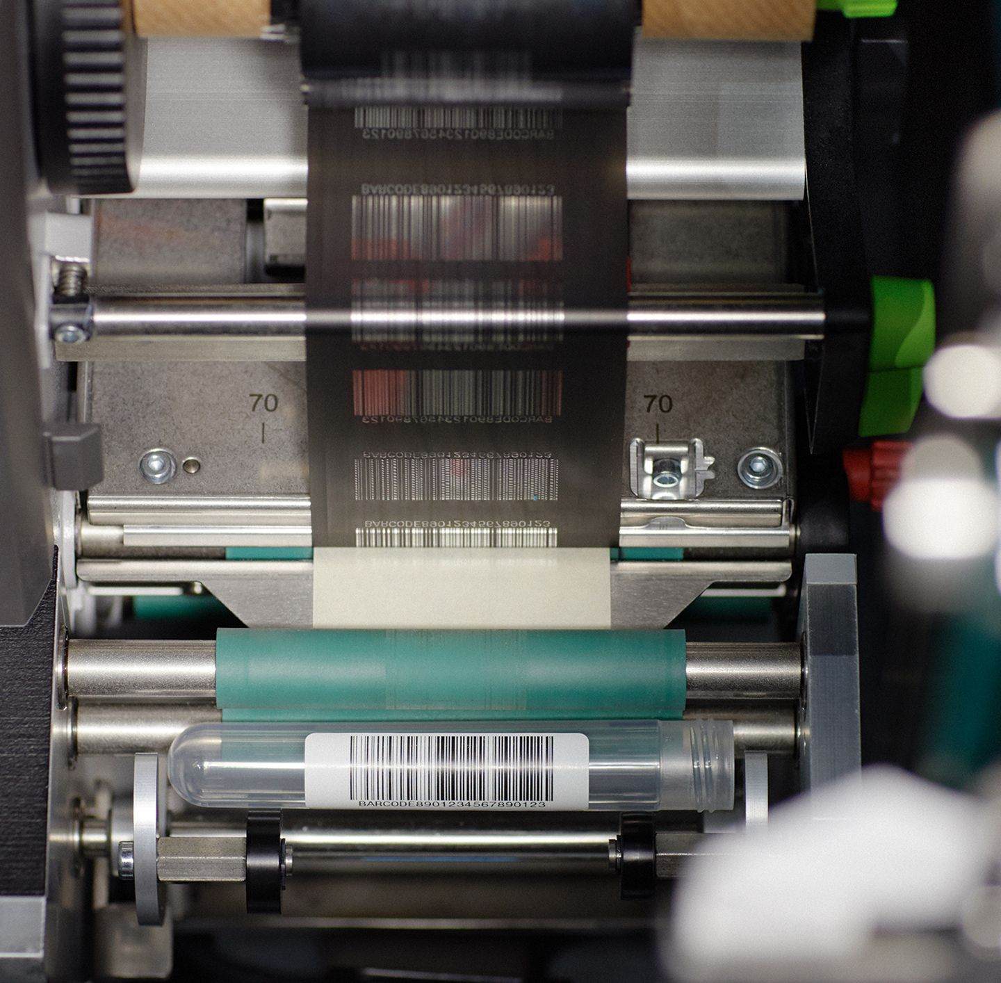 cose-up of barcode, automation image
