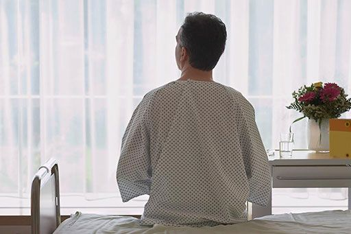 Male patient in the hospital