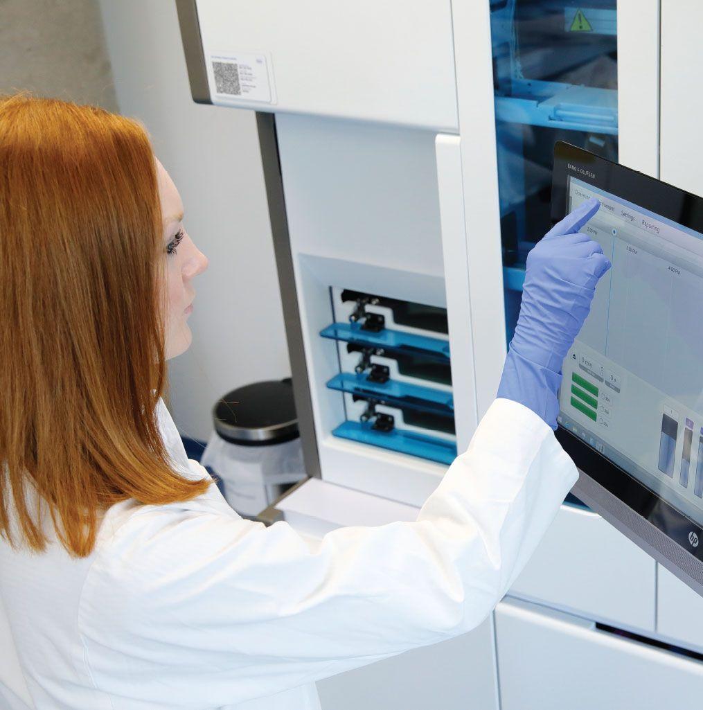 Roche VENTANA HE 600 primary staining laboratory workflow