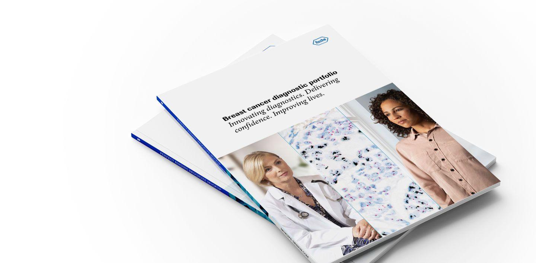 Breast cancer portfolio brochure stack