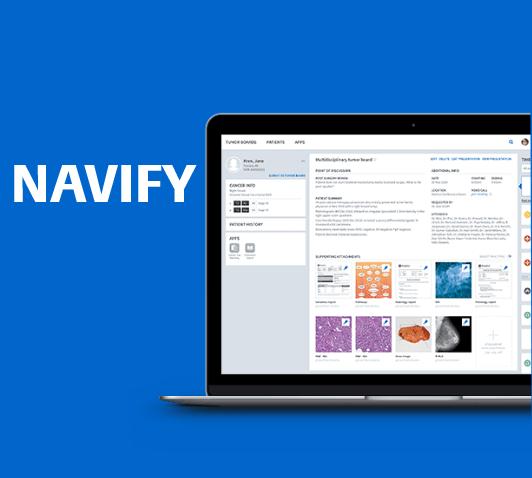 Navify Software auf Bildschirm