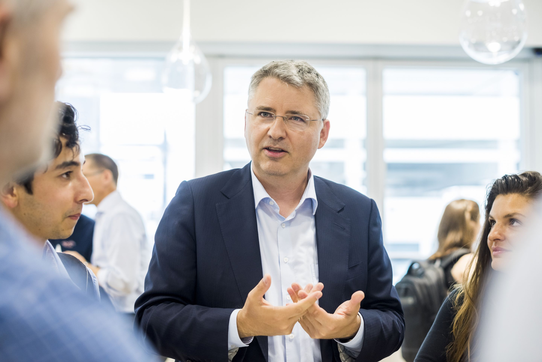 Roche CEO Severin Schwan speaking