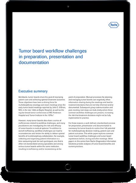 Retos derivados del flujo de trabajo de los Comités de Tumores