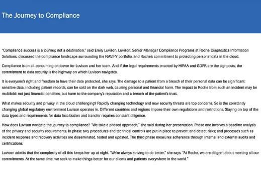 Journey to Compliance