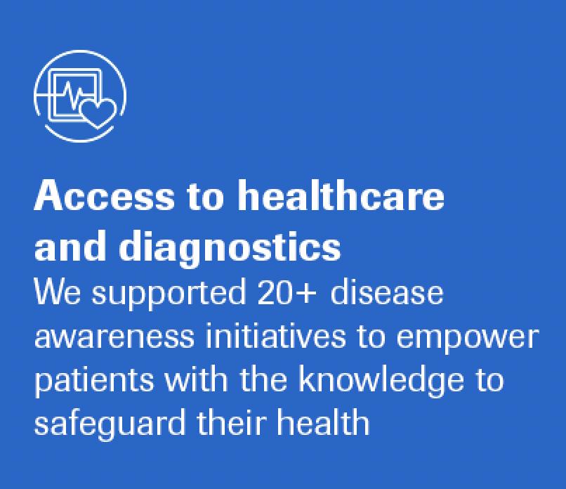Access to healthcare and diagnostics